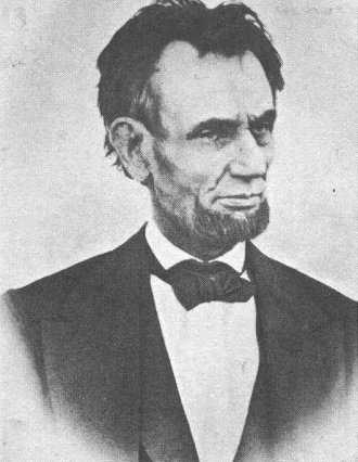 Image of a mature Abraham Lincoln.