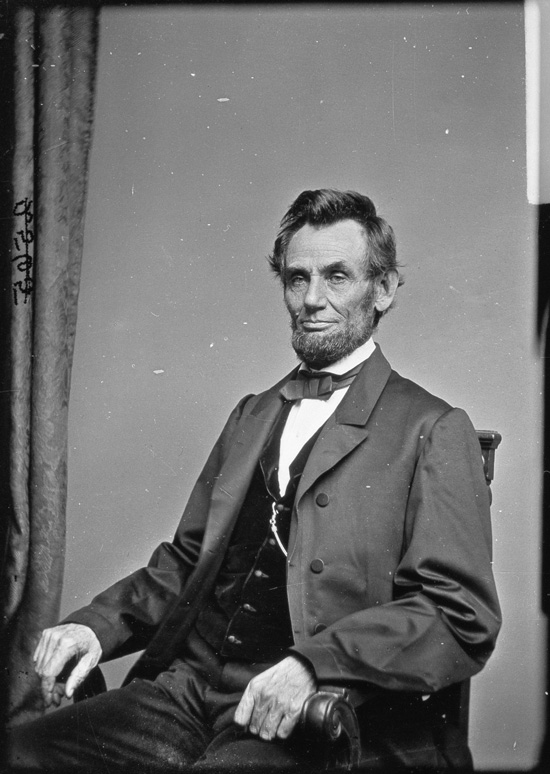 Photograph Of Abraham Lincoln Taken By Mathew Brady On