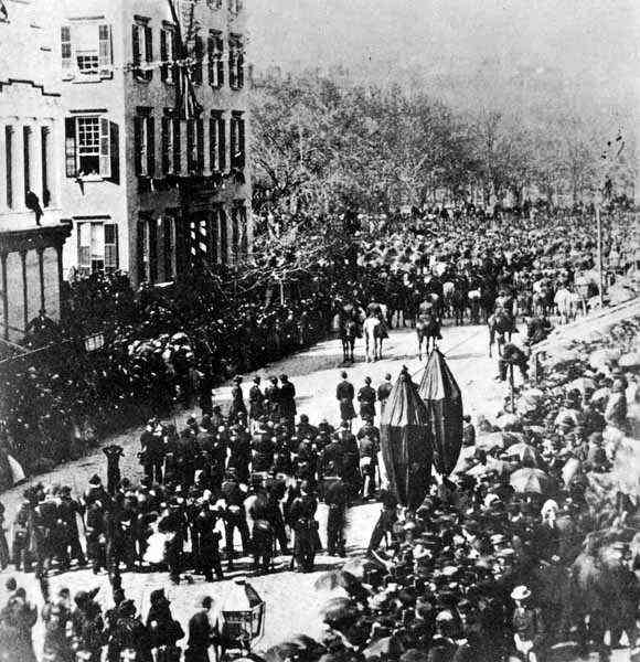 Abraham Lincoln S Funeral Procession In New York City 6
