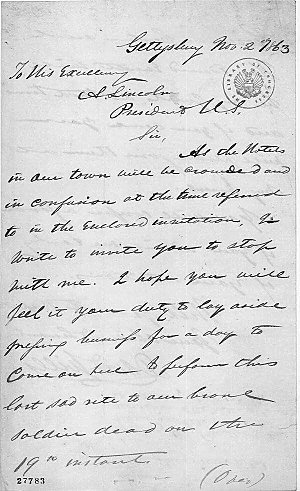 Abraham Lincoln S Invitation To Gettysburg And The Meaning Of The